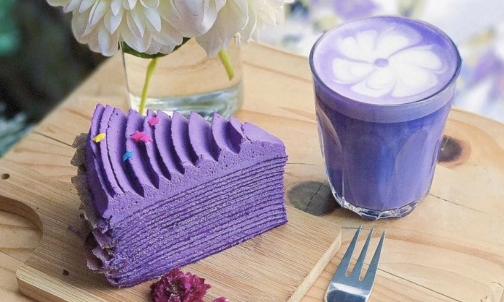 фіолетовий лате