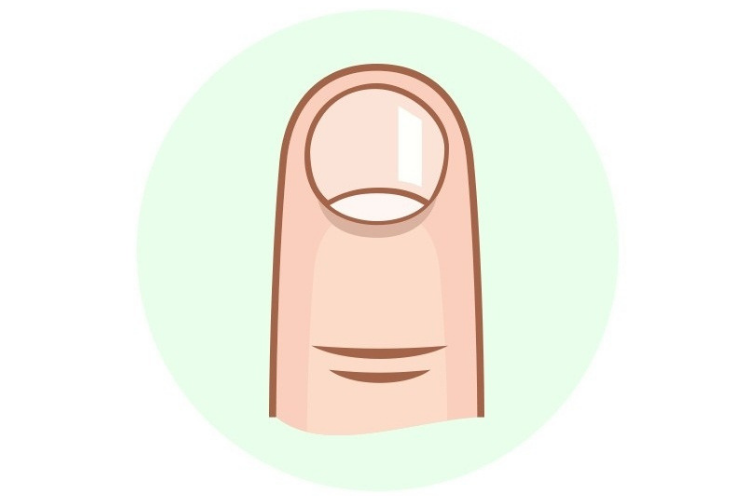 короткі круглі нігті