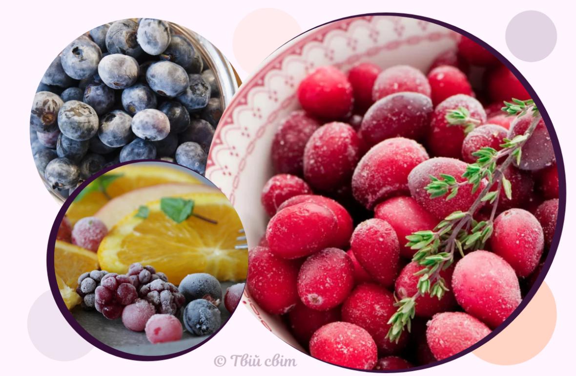 як заморозити ягоди