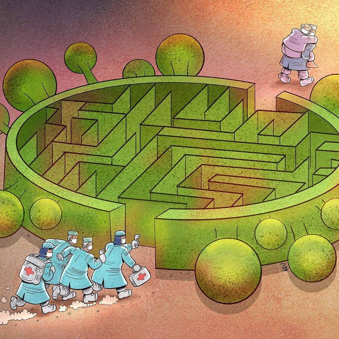 photo 2020 04 09 08 38 06 - Иранский художник изобразил отчаянную борьбу медиков из коронавируса