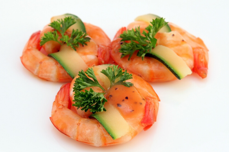 антистресові продукти, морепродукти, креветки