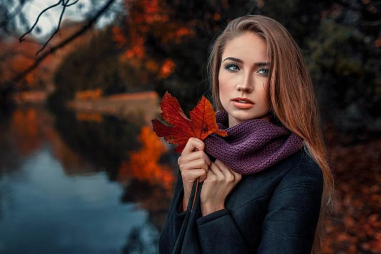 цитати про осінь, дівчина